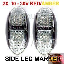 2X Multi-Volt 12V 24V Amber Red Super Bright Side LED Marker ADR E4 truck Lamp