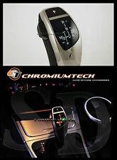 BMW E90 E92 E87 E84 E82 CROMO LED SHIFT GEAR KNOB per LHD con luce di posizione del cambio