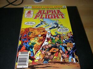 Alpha Flight #1, 1983, Marvel comic, John Byrne, vf-