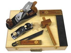 Faithfull 5 Piece Carpenters Tool Set in Wooden Presentation Box, Ideal Gift
