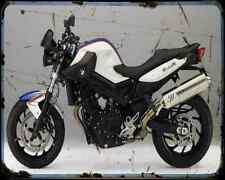 Bmw F800R 11 A4 Metal Sign Motorbike Vintage Aged