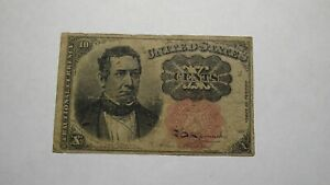 1874 $.10 Fifth Issue Fractional Currency Obsolete Bank Note Bill USA 5th RARE!!