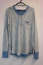Roxy Hoodie In Blue Heather Marl, cotton, Size UK S / 10, Quicksilver