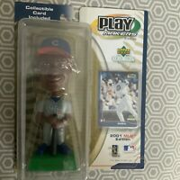 2001 Upper Deck Play Makers SAMMY SOSA CHICAGO CUBS BOBBLEHEAD NEW WITH CARD