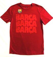 FCB Barcelona Mens T-Shirt Soccer Futbol Tee Slim Fit Barca Cotton Red Sz Small