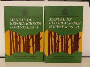 1991 MANUAL de REPOBLACIONES FORESTALES 1st Ed. 2/2 Vol. FORESTRY Botany SPANISH