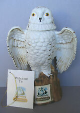 LARGE SIZE ARCTIC NORTHERN SNOWY OWL HARRY POTTER FAME SKI COUNTRY DECANTER