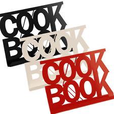 Cookbook Stand Red, Black Or Cream Enamel Recipe Cook Book Holder Brand New