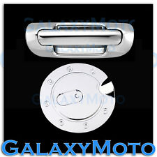 99-04 JEEP GRAND CHEROKEE Triple Chrome Plated Tailgate Handle+GAS Tank Cover