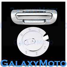 Triple Chrome Plated Tailgate Handle+GAS Tank Cover for 99-04 JEEP GRAND CHEROKE