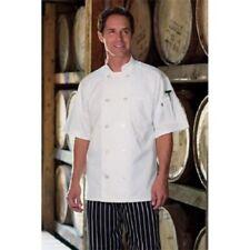 Uncommon Threads South Beach Chef Coat Short Sleeve White 0415 Medium