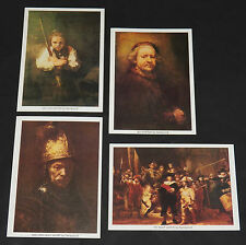 "Masters of Arts Rembrandt 4 Full-Color Reproductions Lot 5""x7"" Print Night Watch"