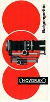 NOVOFLEX - Prospekt Broschüre für Balgengeräte Fotografie - B20847
