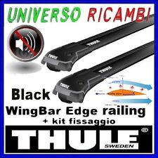 BARRE THULE WINGBAR EDGE BLACK FIAT Marea, 5p, SW, 96-03, con barre longitudina
