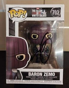"""DANIEL BRÜHL """"Baron Zemo"""" Funko Pop signiert COA IN PERSON Autogramm signed NEW"""