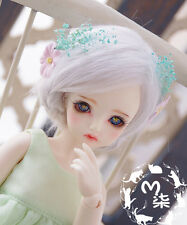 "4""-5""12cm Sweet Light Silver-Gray BJD Wig For 1/12 PULLIP BJD Long Doll Wig"