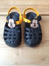 Disney® Mickey Mouse Kids Boys Girls Toddlers Sandals Beach Shoes size 7 VGC