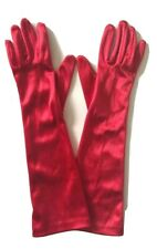 Sexy Vintage Womens Gloves Long Ladies Satin Opera Cosplay Wet Look One Size 15�
