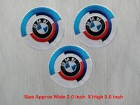3pcs BMW Racing Car Motorcycle Patch Embroidered Iron or Sew on Coat/Jacket/Hat