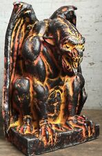 Molten Lava Fire Demon Halloween Haunted Gargoyle Prop Decoration Castle Decor