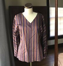 HOLLY LUEDERS Polished Cotton Top Stripe S/M