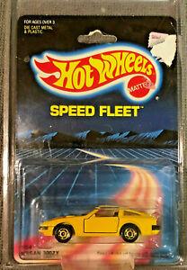 1986 Hot Wheels Speed Fleet Series #1454 NISSAN 300zx 300 zx Yellow W/Protector!