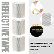 Self Adhesive Roll Tape Sticker Decal 3m Silver Color Reflective Safety Warning