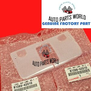NEW GENUINE OEM TOYOTA 2006-2012 RAV4 INTERIOR RIGHT & LEFT MAP LAMP LENS SET
