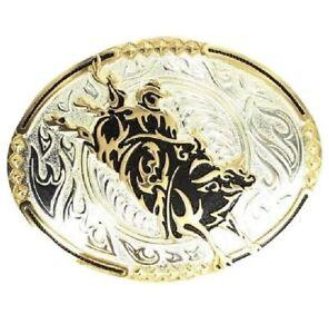 Crumrine Men's Blazin' Bull Rider Buckle Silver One Size-Buckle 3 x 4 C10800