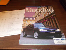 1998 Ford Mondeo Australian 16-page Sales Catalog with Spec Sheet