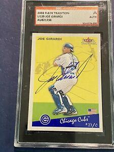2002 Fleer Tradition Joe Girardi Authentic Autographed SGC card U129