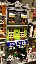 LEGO CUSTOM MODULAR PIANO SHOP fits 10185 10197 city train display MOC 391