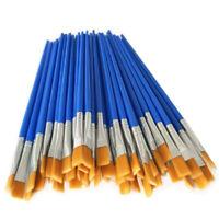 Paint Brushes Set 50 Pcs Kids Nylon Flat Hair Small Oil Watercolor Artist P T6M5