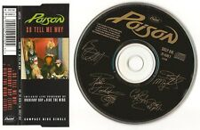 "POISON CD SINGLE ""SO TELL ME WHY"" 1991 UK CAPITOL CDCLP 640 UNSKINNY BOP LIVE +1"
