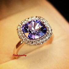 Unbranded Yellow Gold Plated Amethyst Fashion Rings