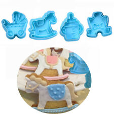 4pcs/set Baby Mold Cookie Biscuit Plunger Cutter Mould Cake Mold Kitchen Tool