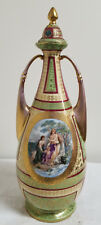 Antique Large Art Nouveau Royal Vienna Porcelain Portrait Landscape Vase As Is