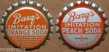 Vintage soda pop bottle caps BARQS Collection of 2 different new old stock cond