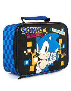 Sonic The Hedgehog Lunch Bag Kids Boys Retro Gaming Food Container One Size