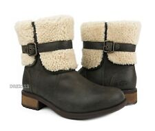 UGG Australia Blayre II Leather Lodge Brown Boots Womens Size 9.5 *NEW*