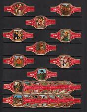 Série complète de 24  Bague de Cigare Label   Taf  Brueghel Festival Wingene