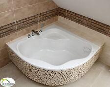 Badewanne Eckbadewanne 150 x 150 cm Wanne  Füße Acryl symmetrisch Ablauf S