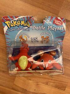 Rare Pokemon Battle Playset Charmeleon Paras Applause Hasbro Nintendo Plush Toy