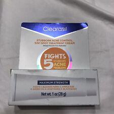 Clearasil Stubborn Acne Control 5 in 1 Spot Treatment Cream 1 oz MaximumStrength