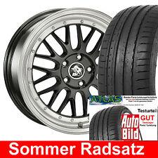 """19"""" Motec Ultra LM Black Sommer Radsatz 225/35 Testsieger Reifen für BMW - NEU"""