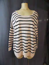 Victoria's Secret~Off The Shoulder~Light Weight~Striped~Sweater~Top~X-Small~Pink
