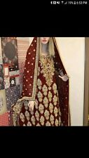 Fancy Pakistani long 4 piece bridal dress with great quality and material