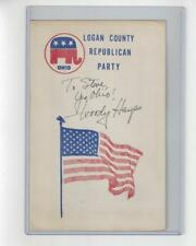 Woody Hayes Ohio State Buckeyes Autographed Republican Party Pamphlet SGC LOA