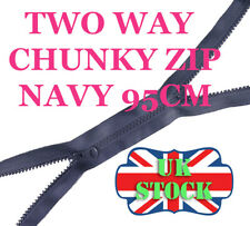 95 cm Long Two Way Zip No 5 Navy Chunky Zip Plastic Zipper Double Zip Molded Zip