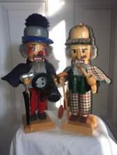 Steinbach Nutcracker ~Dr. Watson~ S680 & ~Sherlock Holmes~ S681 - Signed/Boxes!